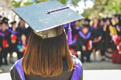 Girl in graduation hats