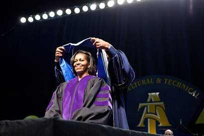 first_lady_nc_at_commencement_speech