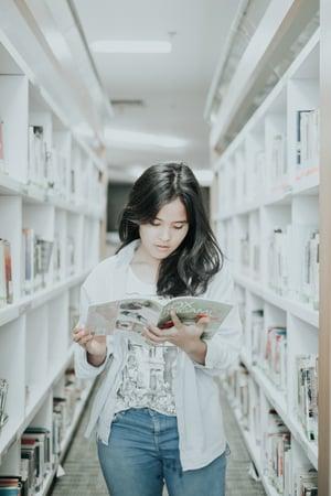 student reading magazine-1